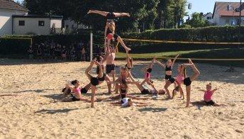 Auftritt der SVH-Sportakrobaten beim Sommerfest am 24.8.2019