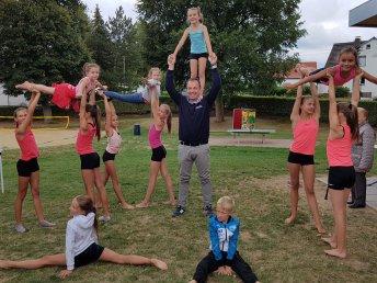 Sommerfest 2018: OB Christian Geselle zeigte sich von seiner sportlichen Seite